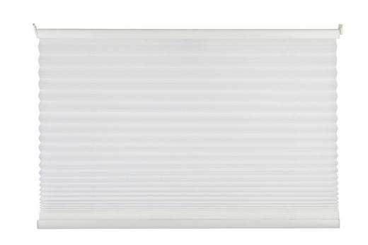PLISSEE  halbtransparent   40/100 cm - Weiß, Basics, Textil (40/100cm) - Homeware