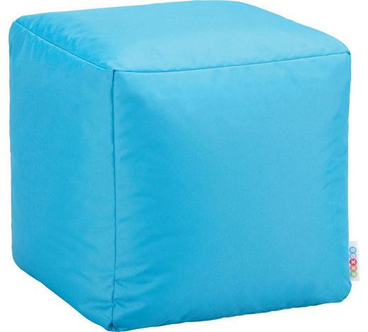 HOCKER in Textil Petrol - Petrol, Design, Textil (40/40/40cm) - Boxxx