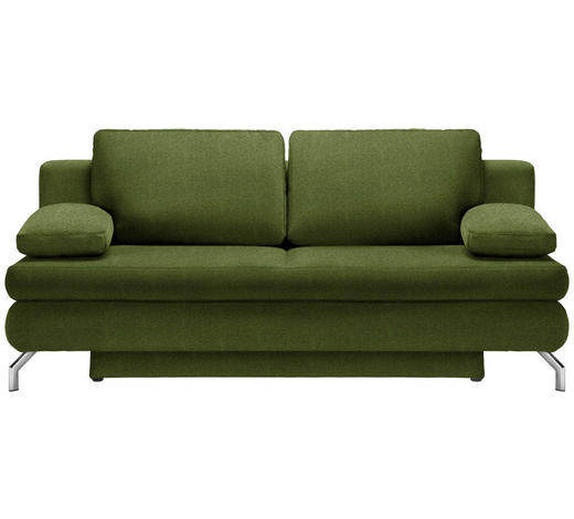 SCHLAFSOFA in Textil Grün  - Chromfarben/Grün, Design, Textil/Metall (200/91/92cm) - Novel