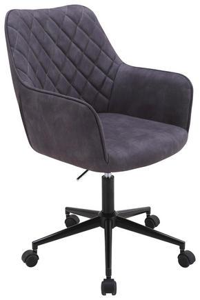 SNURRSTOL - grå/svart, Design, metall/textil (57/88-100/62cm) - Xora