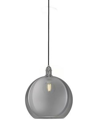 VISEČA SVETILKA RHONDA - srebrna, Konvencionalno, steklo (32cm)