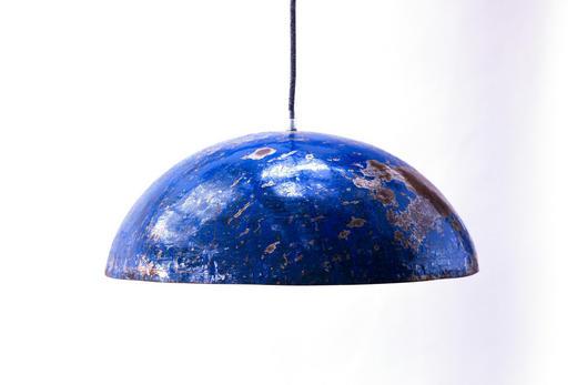 HÄNGELEUCHTE - Blau, Trend, Metall (44/22cm)