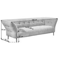 ZWEISITZER-SOFA in Textil Grau - Grau, Design, Holz/Textil (200/79/97cm) - Pure Home Lifestyle