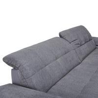 SEDACÍ SOUPRAVA, šedá, textil - šedá/barvy chromu, Design, kov/textil (180/265cm) - Carryhome