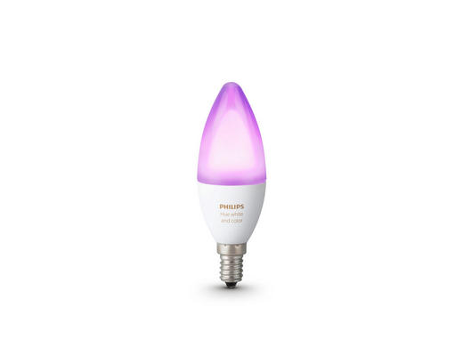 HUE WHITE & COLOR AMBIANCE LED  E14 6,5 W - Weiß, Design, Kunststoff (3,9/11,7/3,9cm) - Philips