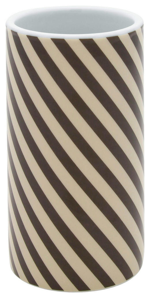 ZAHNPUTZBECHER - Beige/Braun, Basics, Keramik - Celina