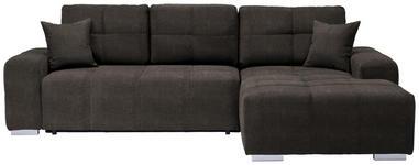 WOHNLANDSCHAFT in Textil Braun  - Silberfarben/Braun, MODERN, Kunststoff/Textil (280/194cm) - Carryhome