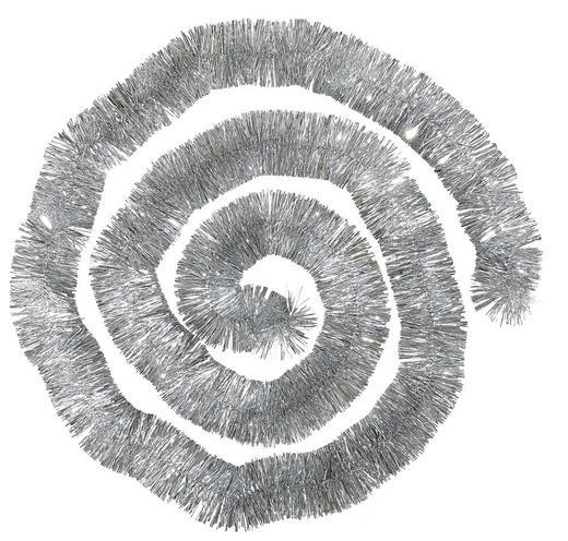 GIRLANDE  Silberfarben - Silberfarben, Basics, Kunststoff (270cm)
