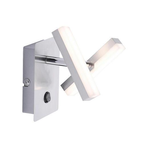 LED-WANDLEUCHTE - Nickelfarben, Design, Metall (13,5/9/15cm) - Boxxx