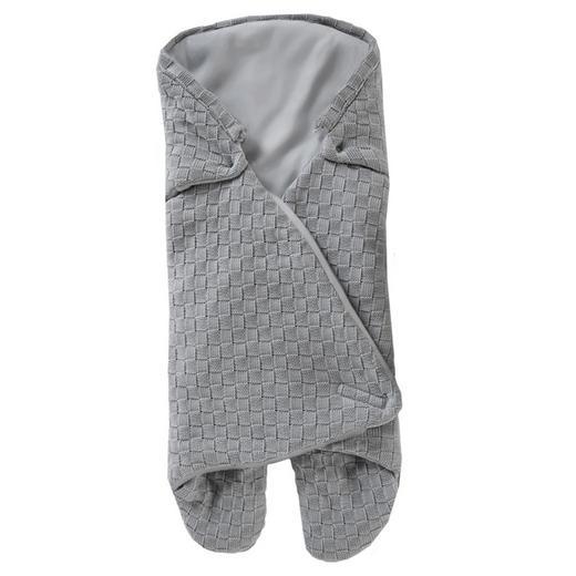 BABYSCHALEN-FUßSACK - Grau, Basics, Textil (85/104cm) - My Baby Lou