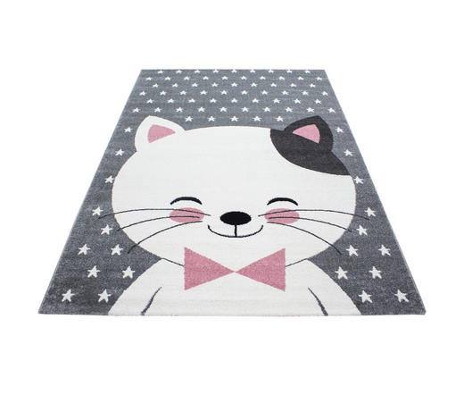 KINDERTEPPICH  160/230 cm  Grau, Weiß, Pink   - Pink/Weiß, Trend, Textil (160/230cm) - Ben'n'jen