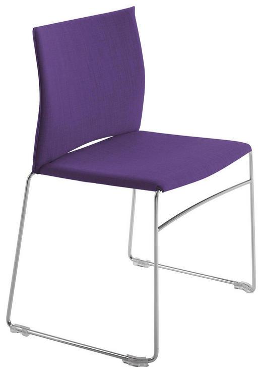 STUHL Chromfarben, Lila, Violett - Chromfarben/Lila, Design, Textil/Metall (56,5/82,5/54cm)