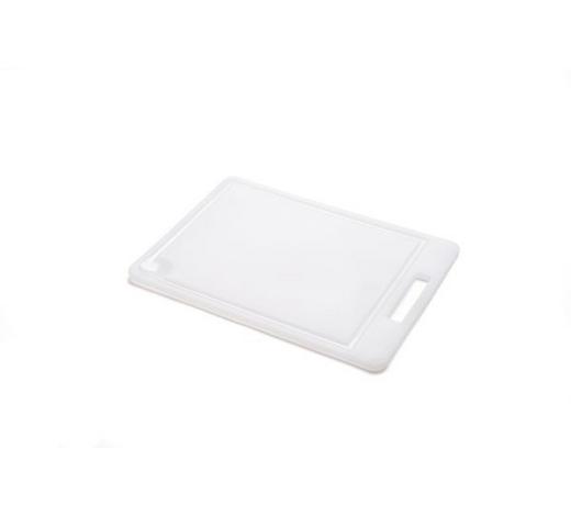 SCHNEIDEBRETT - Weiß, Basics, Kunststoff (34,5/24,5/1cm) - Homeware