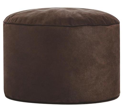 POUF Lederlook Braun - Braun, Design, Textil (50/30cm) - Carryhome