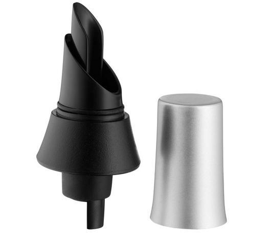LIJEVAK ZA POSLUŽIVANJE VINA   - boje oplemenjenog čelika/crna, Konvencionalno, metal/plastika (8cm) - WMF