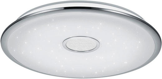 LED-DECKENLEUCHTE - Chromfarben/Weiß, Basics, Kunststoff/Metall (65 10 cm) - Novel