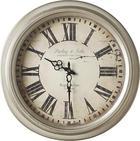 STENSKA URA CB150685 - srebrna, Basics, kovina/les (47cm) - Ambia Home