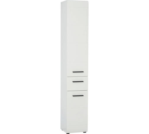 HOCHSCHRANK Weiß - Anthrazit/Weiß, Design, Holzwerkstoff/Kunststoff (30/182/31cm) - Xora