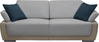 SCHLAFSOFA in Textil Blau, Beige  - Chromfarben/Blau, Design, Holz/Textil (214/83/95cm) - Venda