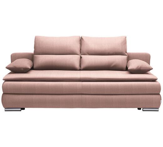 SCHLAFSOFA in Textil Rosa  - Silberfarben/Rosa, KONVENTIONELL, Kunststoff/Textil (207/94/90cm) - Venda