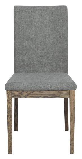 STOL - grå/mörkbrun, Modern, trä/textil (46/92/60cm) - Rowico