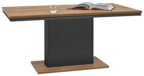 ESSTISCH rechteckig Graphitfarben, Eichefarben  - Eichefarben/Graphitfarben, Design (160/90/73,6cm) - Hom`in