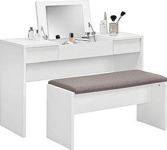 SCHMINKTISCH in Weiß - Weiß, Design, Holzwerkstoff (125/76/42cm)