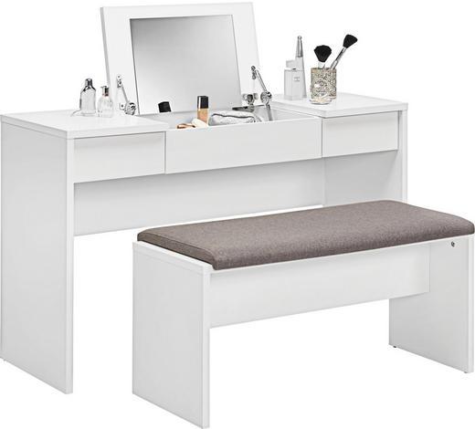 SCHMINKTISCH in Weiß - Weiß, Design, Holzwerkstoff (125/82/42cm)