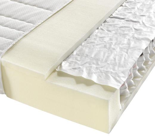 TASCHENFEDERKERNMATRATZE 100/200 cm - Weiß, Basics, Textil (100/200cm) - Sleeptex