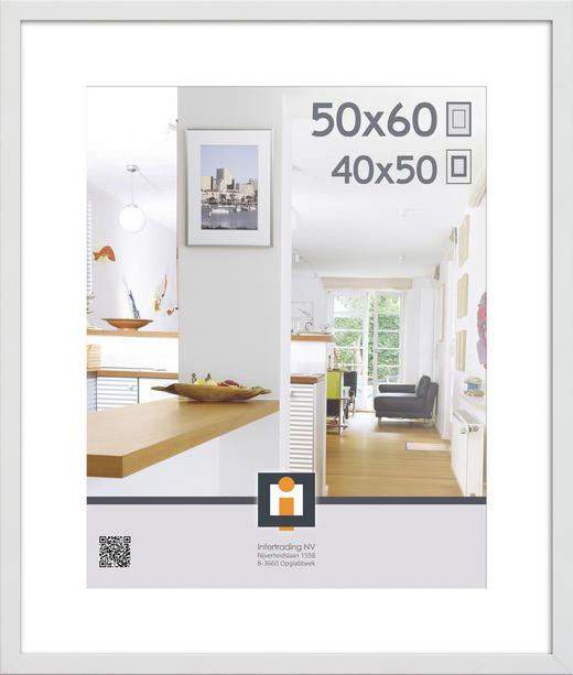 OBRAZOVÝ RÁM 50X60 - bílá, Basics, umělá hmota/sklo (50/60/3cm)