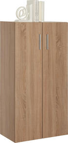 KOMMODE in Eichefarben - Eichefarben/Alufarben, Design, Holzwerkstoff/Kunststoff (60/115,2/33,6cm) - CARRYHOME