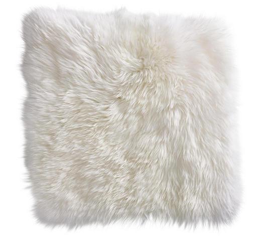 SITZKISSEN  - Weiß, KONVENTIONELL, Textil/Fell (34/34cm) - Esposa