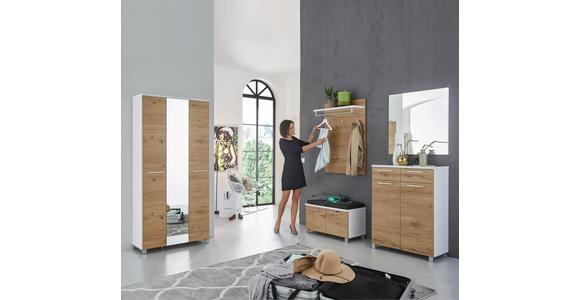 GARDEROBENSCHRANK 71/193/37 cm  - Chromfarben/Eichefarben, Design, Holz/Holzwerkstoff (71/193/37cm) - Dieter Knoll