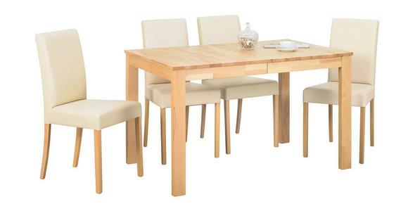 STUHL in Textil Beige, Buchefarben - Beige/Buchefarben, KONVENTIONELL, Holz/Textil (43/90/56cm) - Cantus