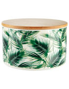 DÓZA NA POTRAVINY - bílá/zelená, Basics, dřevo/keramika (12/8,2cm) - Ambia Home
