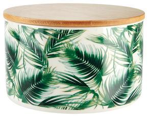 FÖRVARINGSBURK - vit/grön, Basics, trä/keramik (12/8,2cm) - Ambia Home