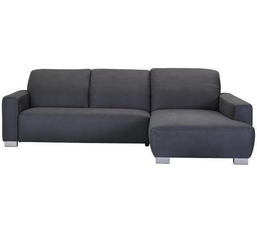 WOHNLANDSCHAFT in Textil Grau  - Chromfarben/Beige, Design, Holz/Textil (296/198cm) - Hom`in