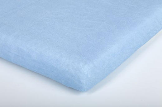DJEČJA PLAHTA S GUMICOM - svijetlo plava, Basics, tekstil (40/90cm) - Träumeland