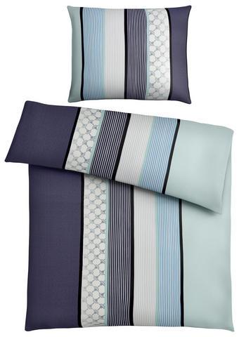 POVLEČENÍ, 140/200 cm antracitová, modrá, zelená, mátově zelená  x makosatén - modrá/zelená, Design, textilie/jiné přírodní materiály (140/200cm) - Joop!