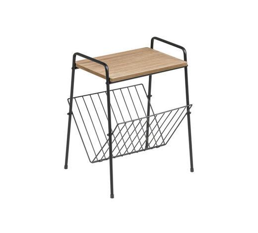 STOJALO ZA ČASOPISE les, kovina  - črna, Design, kovina/les (36/46/32cm) - Xora