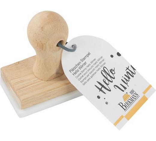 KEKSSTEMPEL - Weiß, Design, Holz/Kunststoff