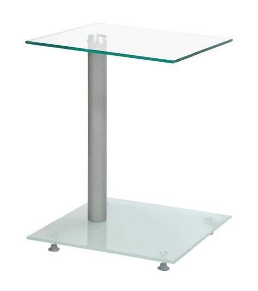 AVLASTNINGSBORD - alufärgad, Design, metall/glas (40/52/40cm)
