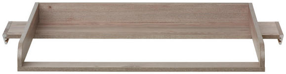 WICKELAUFSATZ & REGAL-SET Camron  - Weiß/Grau, Natur, Holzwerkstoff (110/97,5/77cm) - My Baby Lou