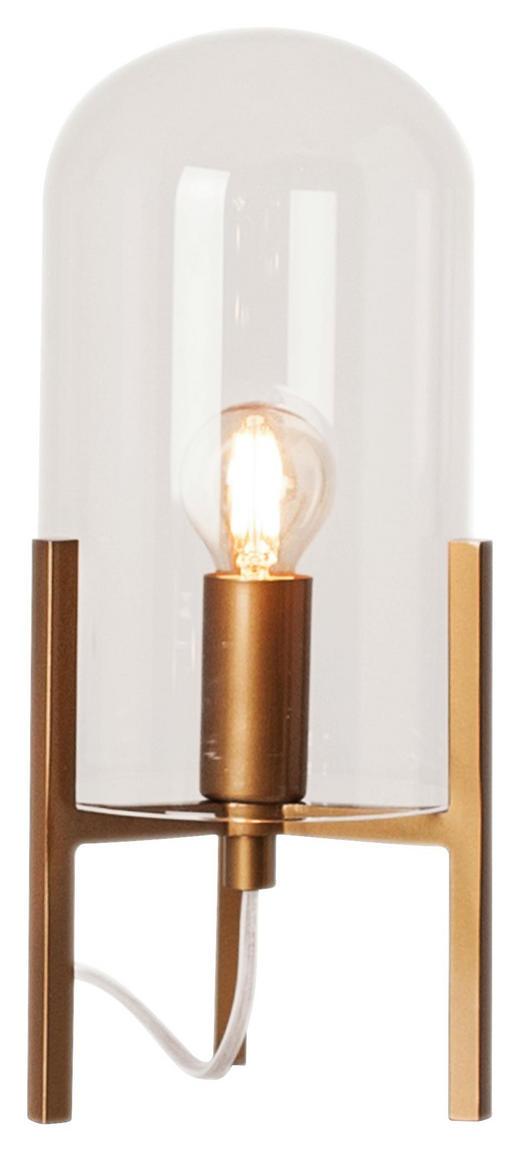 TISCHLEUCHTE - Klar/Goldfarben, Design, Glas/Metall (14/30cm)