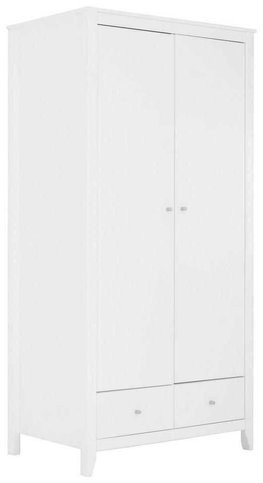 SCHRANK in teilmassiv Kiefer Weiß - Silberfarben/Weiß, Design, Holz/Holzwerkstoff (100/201/65cm)