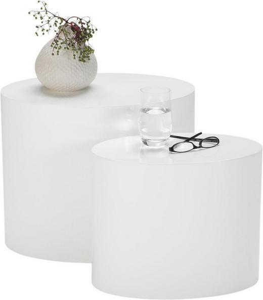COUCHTISCH oval Weiß - Weiß, Design (48/40/40/33/33/25cm) - Carryhome