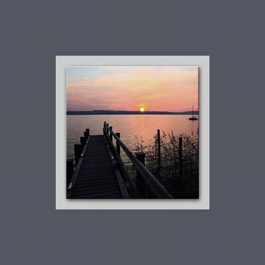 Landschaft & Natur BILD - Multicolor, Basics, Glas/Holz (50/50/3cm) - EUROGRAPHICS