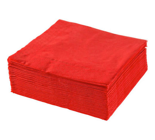 SERVIETE XXXL PACK, RDEČA - rdeča, Konvencionalno, papir (40/40cm) - Xxxlpack