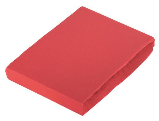 BOXSPRING-SPANNLEINTUCH - Rot, Basics, Textil (100/200cm) - Novel