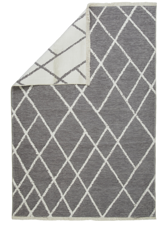 FLATVÄVD MATTA 80/150 cm - vit/grå, Design, textil (80/150cm) - Novel